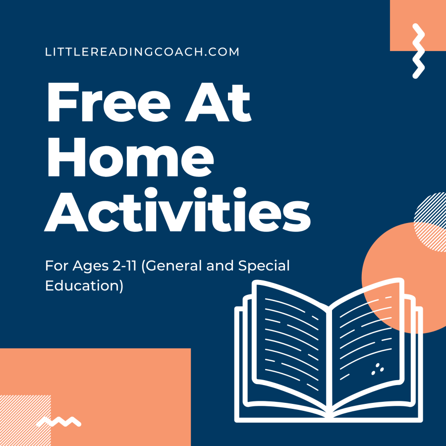 Free At Home Activities for Ages 2-11 (General and Special Education)