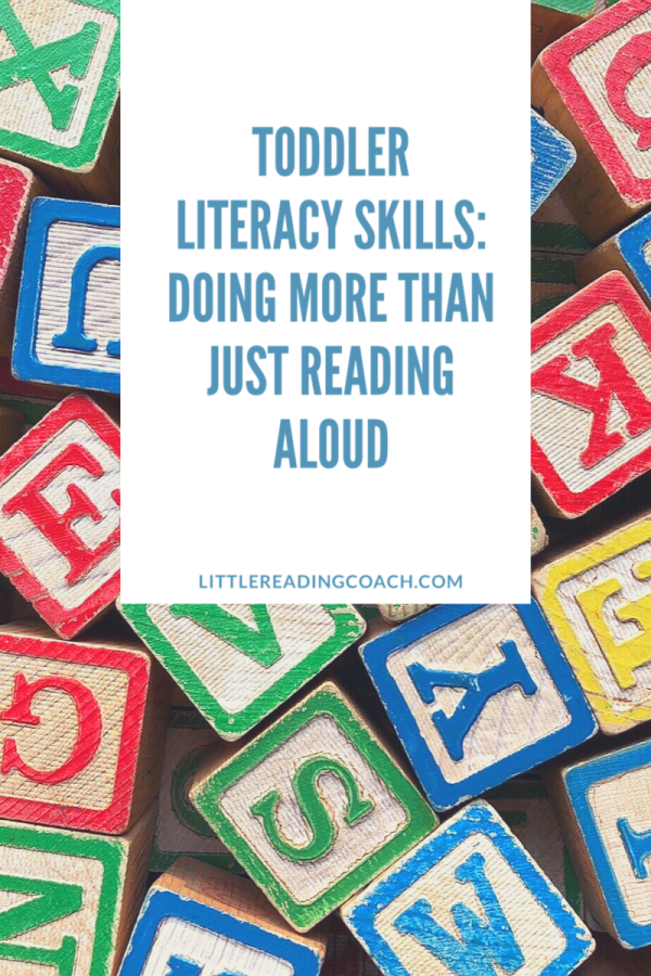 Toddler Literacy Skills: Doing More Than Just Reading Aloud
