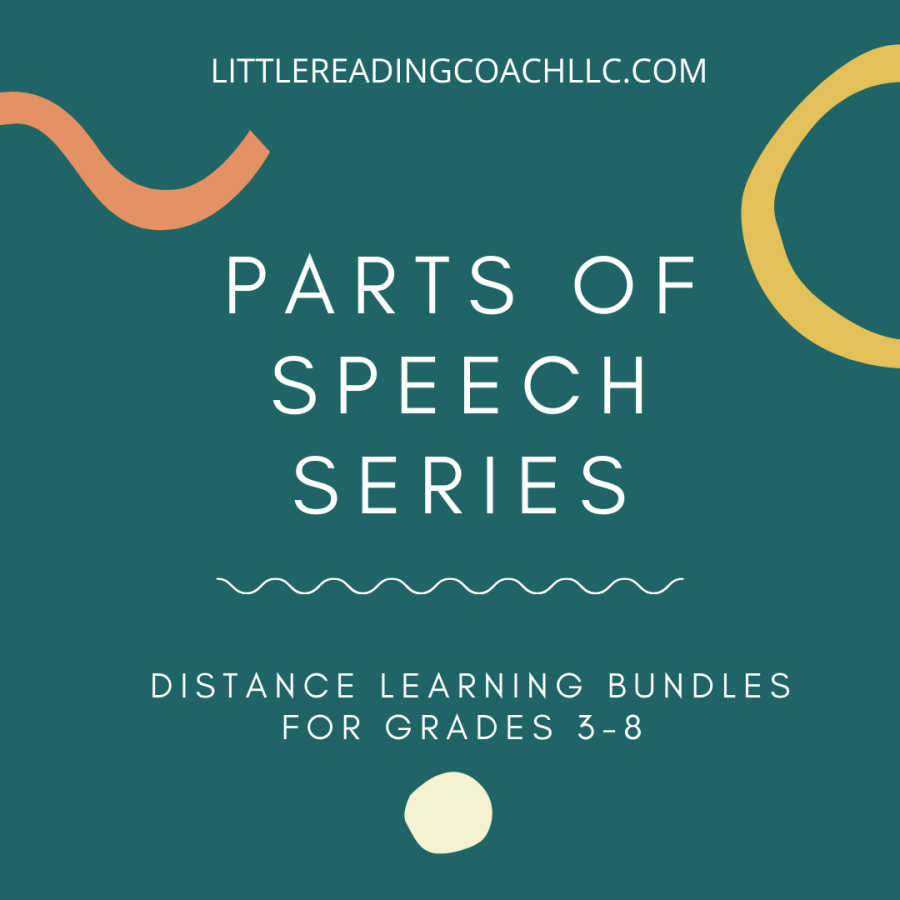 Distance Learning Parts of Speech Series for Grades 3-8
