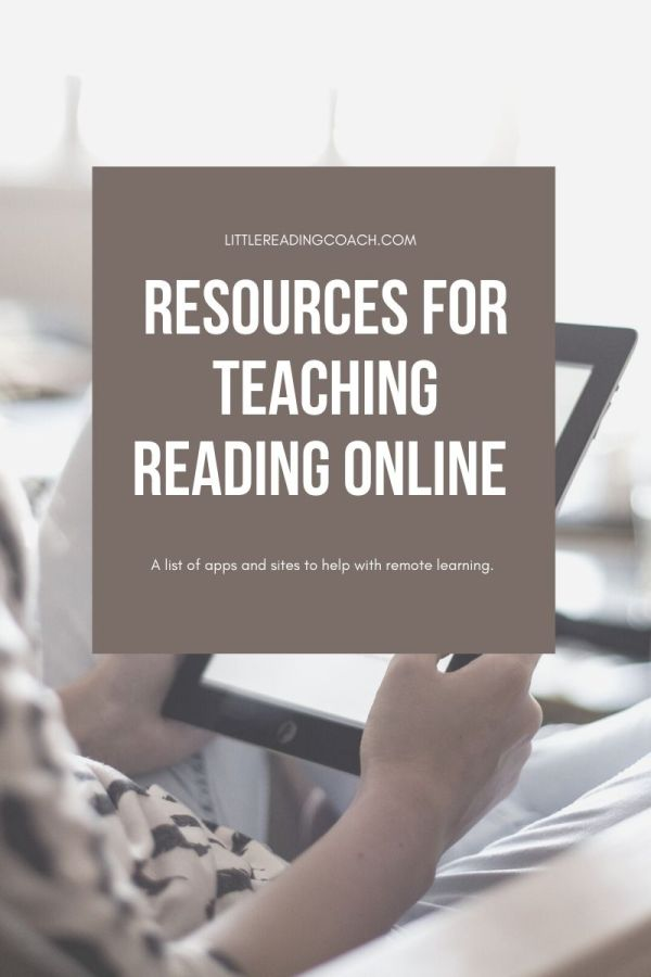 Resources for Teaching Reading Online