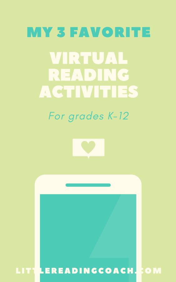 My 3 Favorite Virtual ReadingActivities