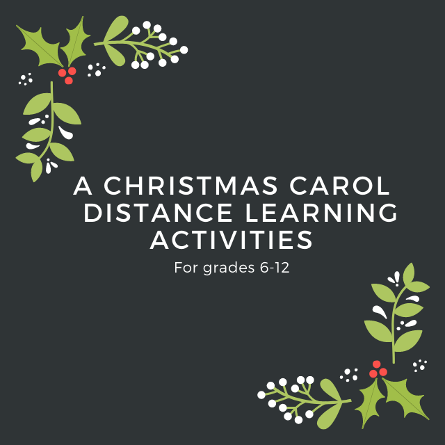 A Christmas Carol Distance Learning Activities