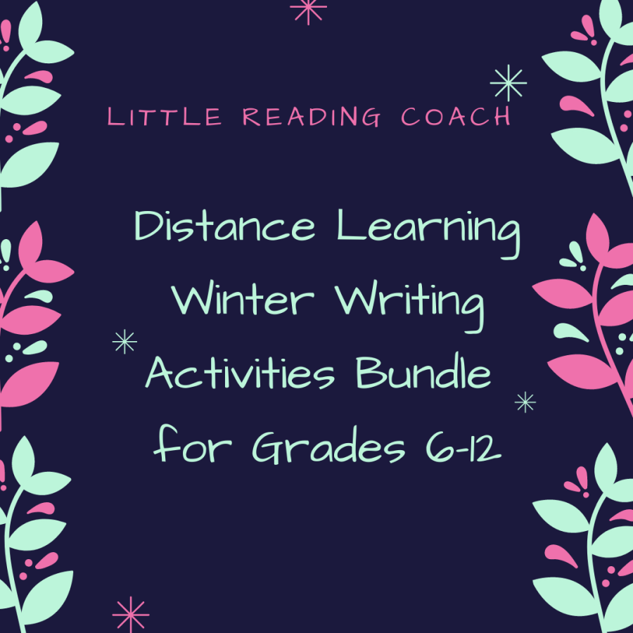 Distance Learning Winter Writing Activities for Grades 6-12